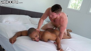 Two Young Studs FUCK - Sexy Underwear Model Let's Newbie Top Him For His First Guy/Guy Hookup