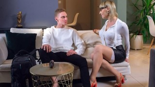 TUTOR4K. Man trusted kissable tutor with little friend for the sake of humping