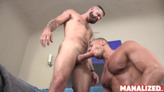 MANALIZED Muscular Bottom Angelo Marconi Hammered And Cums