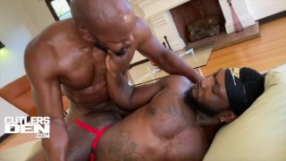 CUTLERSDEN CUTLER X & CHINO BLAC MONSTER COCK ROUGH RAW ASS FUCKING AND ASS TO MOUTH CUM FEEDING
