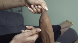 GIRLFRIEND PLAY WITH UNCUT COCK AND FORESKIN