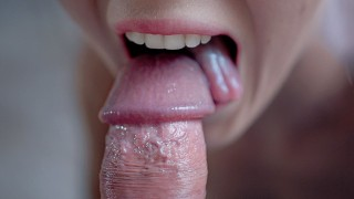 SHE SUCKED JUICE FROM MY BALLS, Hottest Cum Mouth Cum Swallow 4K