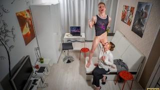 TUTOR4K. Man fucks sexy mature professor blackmailing esteemed woman