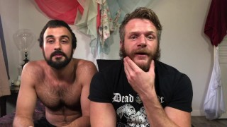 Bearded Hunks Mason Lear & Brian Bonds Play During Quarantine