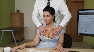 LOAN4K. Big-breasted hottie satisfies man to get necessary money