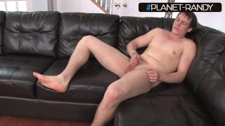 young guy struggling to get hard during jerk off session