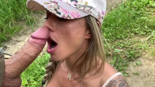 Fuck me every where you want! Michaela Isizzu fuck in nature!!!!