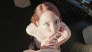 HOT POV BLOWJOB (Oral creampie) - MollyRedWolf