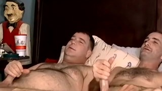 Naughty hunk sucking cock after mutual handjob and cumshot