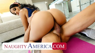 Naughty America - Misty Quinn's phat ass bounces on cock that's not her husband's