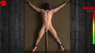 Edging and Denial: Anal probe vibrator stimulates his prostate chastity tease (trailer)