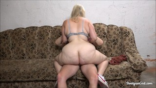 Teen Gets a Cock in Her Big Ass in the Garage