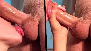 She got a lot of cum in throat, throbbing cim, oral creampie