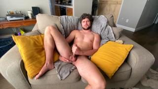 Sexy bi twunk jock shows off tight cut cock