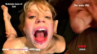 Two Teenie Blonde Cum Guzzlers Facial Cumpilation