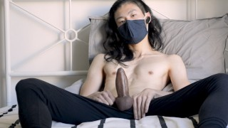 Edging session end with ruin orgasm after one hit of amyl