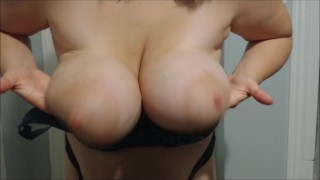 Big heavy saggy boob drops, BBW floppy milf hangers and huge areolas