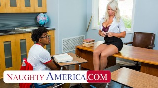 Naughty America - London River is willing to help her student, but she wants cock in return