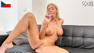DoeGirls - Emily Bright Big Fake Tits Czech MILF Gets Horny In Quarantine