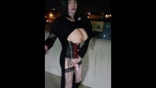 Sissy slut walk unedited