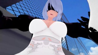 Nier: Fucked by 2b futa taker POV