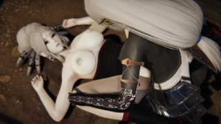 Futa - RWBY - Dark Elf x Salem - 3D Porn