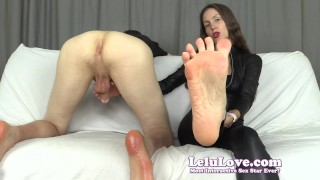 YOU lick his asshole while I stroke his cock so I can feed all his cuckolding cum to you - Lelu Love