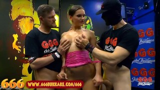 MILF Barbara is a Gangbang Piss Whore - 666 Bukkake