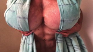 best abs with monster hairy pussy