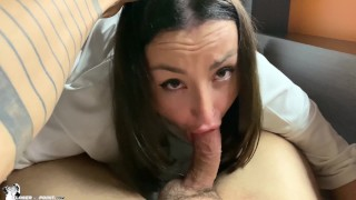 Saw her Masturbate and Decided to Fuck her, Cum in Mouth