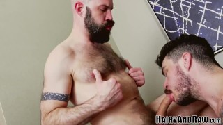HAIRYANDRAW Inked Stud Fucks Mickey Carpathio After Blowjob