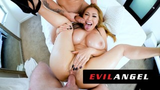 EvilAngel - Stacked Asian MILF Kianna Dior's Sloppy Threesome