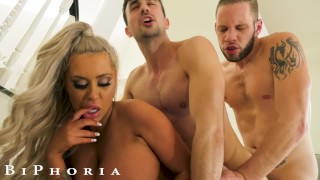 BiPhoria - Bisexual Couple Hire & Fuck Stripper For Anniversary