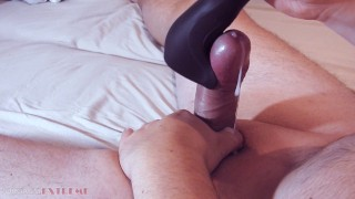 Satisfyer Men Wand Vibrator Cumshot - Intense Orgasm After Edging Session