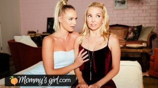 MommysGirl Emma Hix Gives A Scissoring Performance To Her Escort Step-MILF