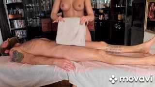 Sensual massage getting my pussy creampied
