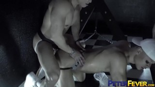 PETERFEVER Asian Hunk Jessie Lee Eats Ass Before Raw Riding