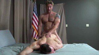 John Hawkins Fucks Johnny B With His Huge Muscle Cock - ActiveDuty