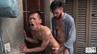Reality Dudes - Asian Twink Andres Has His Ass Dominated By Diego Big Cock