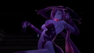 Halloween night with Slime-Girl - Eris (3D Hentai, 4K, 60FPS, Uncensored)