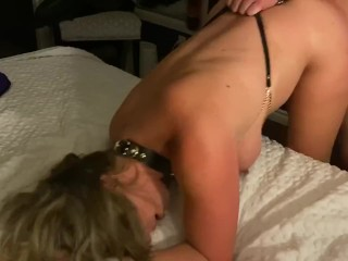 Hotwife fucked hard and spanked while hubby films