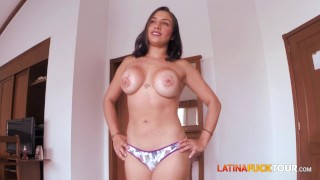 Busty Spanish speaking babe gets fucked really hard