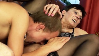 mom gets big cock toy boy fucked