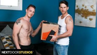 Delivery Man Brings Big Package - NextDoorStudios