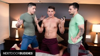 Jake Porter Double Books Himself With 2 Fuck Buddies - NextDoorBuddies