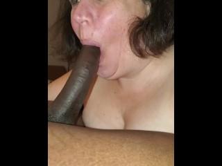 Hands Bound BBC Cock swallow Slut Training- BDsM interracial sex