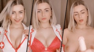 Sluttly Nurse Strip Teases and Jerks Off Patient - Snapchat Nudes