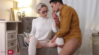 Cutie Hanna Rey with glasses drilled by BF