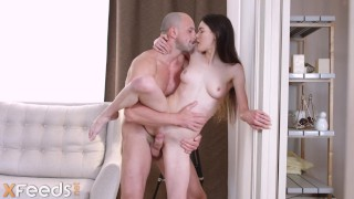 Bald dude busts his suspiciously young GF Ariana Shaine reading Kama Sutra
