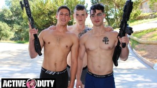 ActiveDuty - Three Hot Military Jocks Fuck Like No Tomorrow